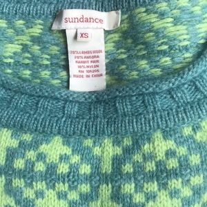 Sundance lambswool crew neck sweater